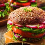 resepi burger sayuran kacang hitam