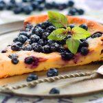 resepi kek keju blueberry-klasik