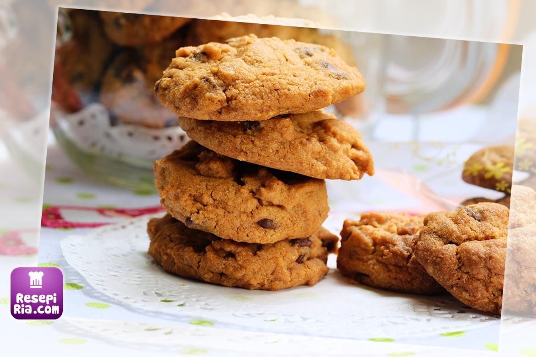 resepi biskut famous amos viral simple sedap mudah Resepi Biskut Badam By Azie Kitchen Enak dan Mudah