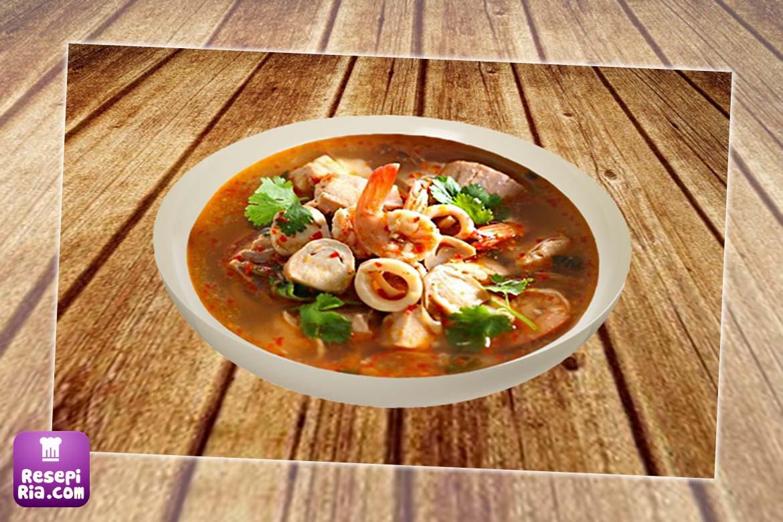 Resepi Tomyam Ayam Sedap Pekat Mudah Simple Ala Thai